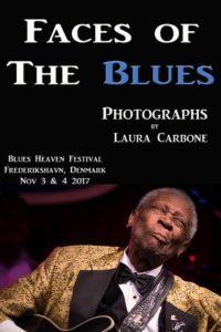 image of flyer for Faces of the Blues Laura Carbone